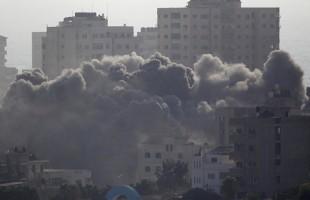 الطيران الحربي الاسرائيلي يشن غارات على مواقع شرق غزة