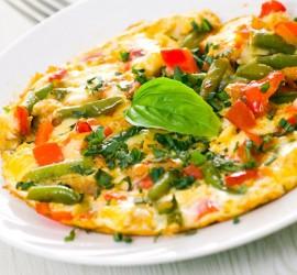 طبق البيض بالأعشاب