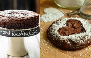 كعكة اللوز والريكوتا بالشوكولاته خالية من الغلوتين
