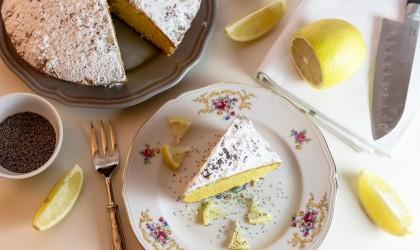 كعكة الليمون بالكريمة